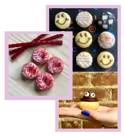 custom desserts available for birthday parties, client gifts, or office events