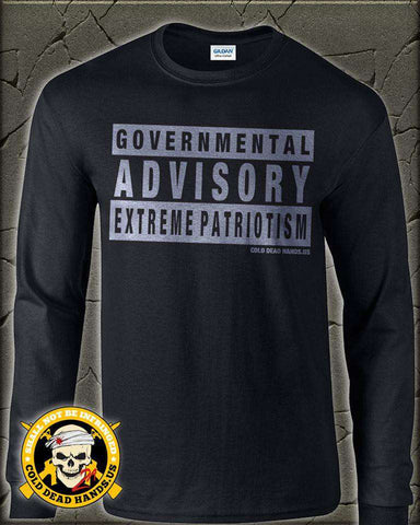 Governmental Advisory Shirt (Long Sleeve) , Clothing - Cold Dead Hands, Cold Dead Hands