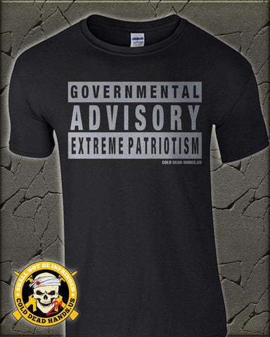 Governmental Advisory T-Shirt , TShirts - Cold Dead Hands, Cold Dead Hands