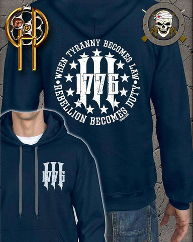 1776 Three Percenter Hoodie , TShirts - Cold Dead Hands, Cold Dead Hands   - 1