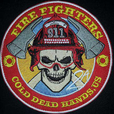 CDH Firefighter Morale Patch (Velcro) , Patches - Cold Dead Hands, Cold Dead Hands
