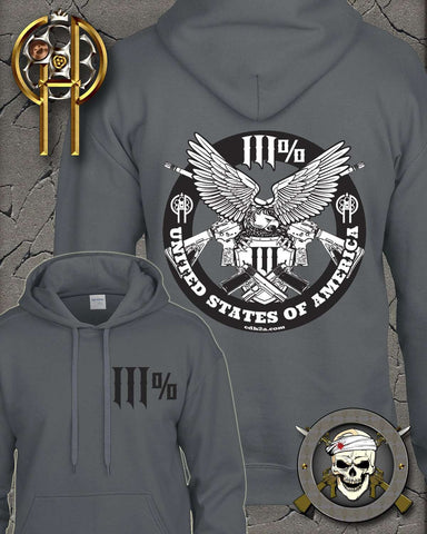 Three Percent Eagle Hooded Sweatshirt , Clothing - Cold Dead Hands, Cold Dead Hands   - 1