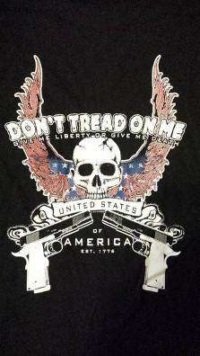 Cold Dead Hands Skull & Guns Don't Tread On Me T-Shirt , TShirts - Cold Dead Hands, Cold Dead Hands   - 2