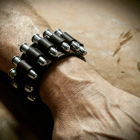 Six Shooter Brand Leather Bracelet