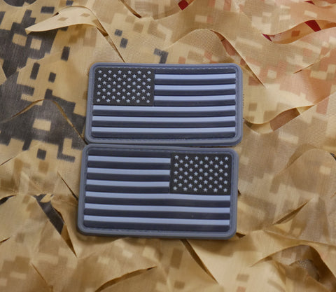Subdued American Flag Morale Patch Set