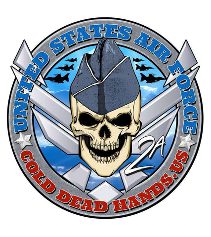 Cold Dead Hands Skull & Crossed Wings US Air Force Vinyl Decal , Stickers - Cold Dead Hands, Cold Dead Hands