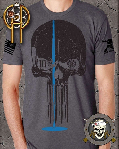 Thin Blue Line Three Percenter Tee ,  - Cold Dead Hands , Cold Dead Hands   - 1