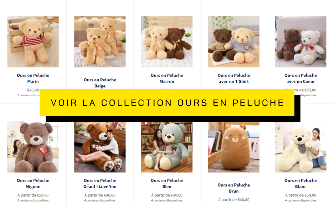 Collection Ours en Peluche