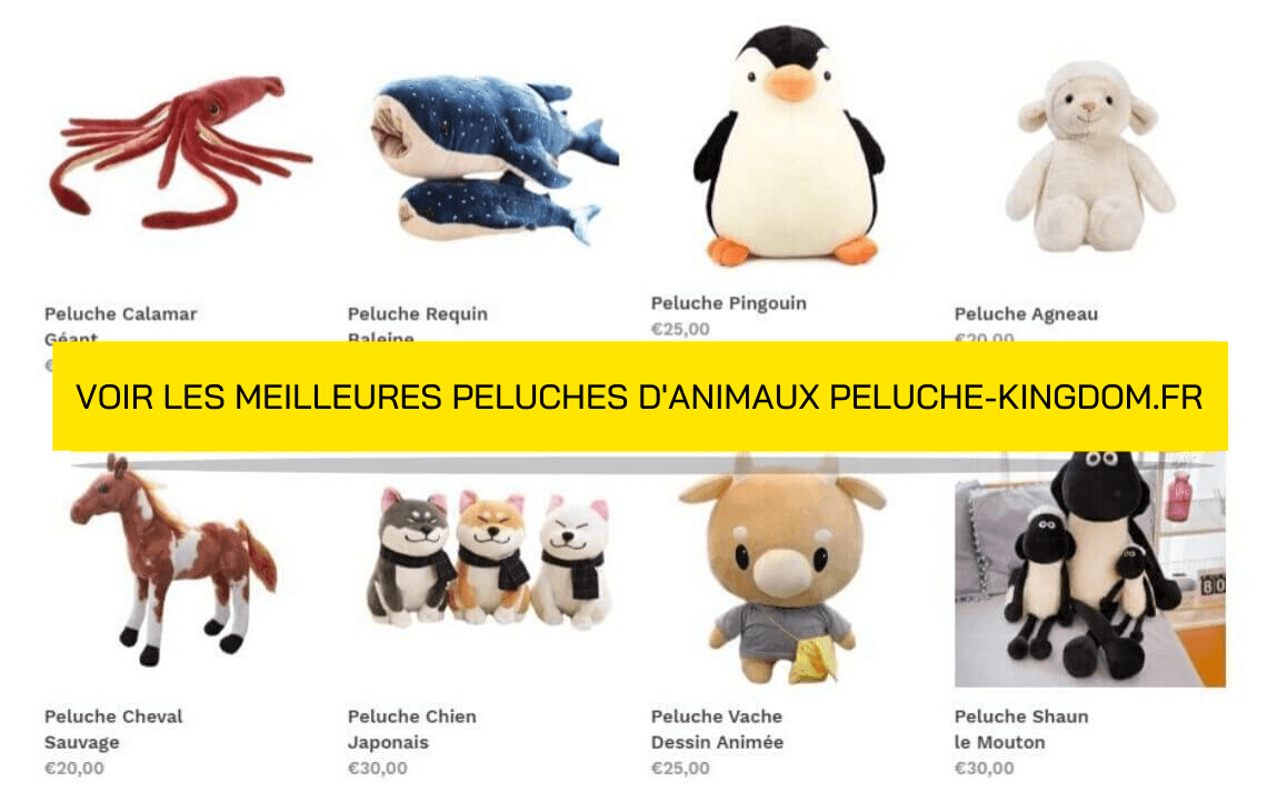 Collection Peluche Animaux