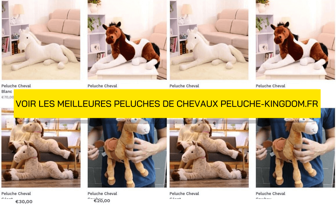 Collection Peluches de Chevaux