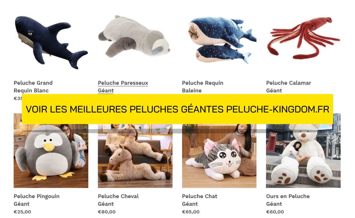 Collection de Peluches Géantes