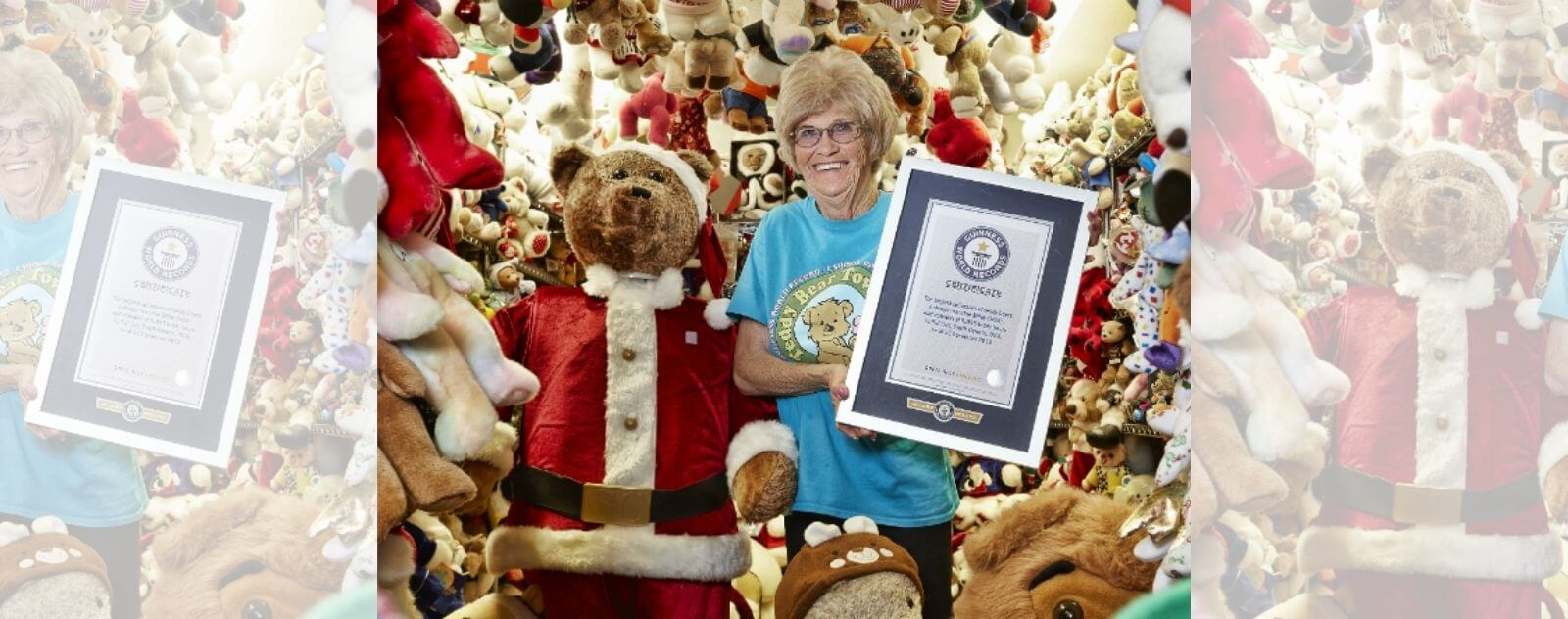 Le Record Officiel de la Plus Grande Collection de Peluche du Guinness World Record 2018