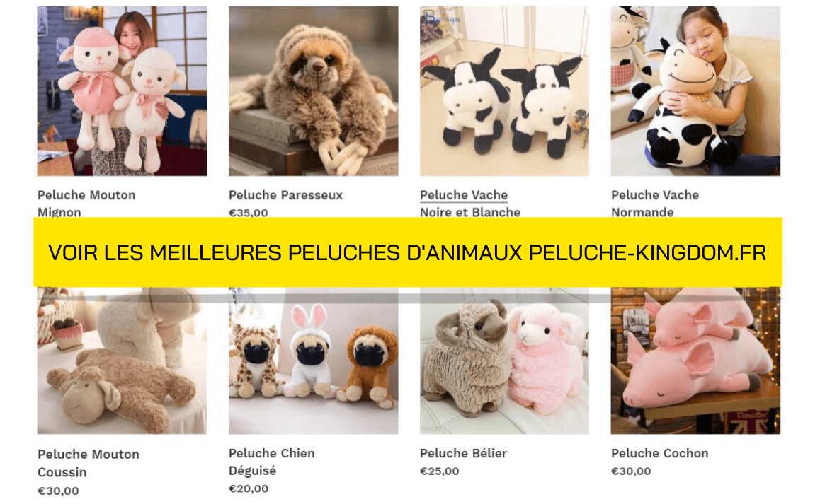 Page de Collection Peluche Animaux
