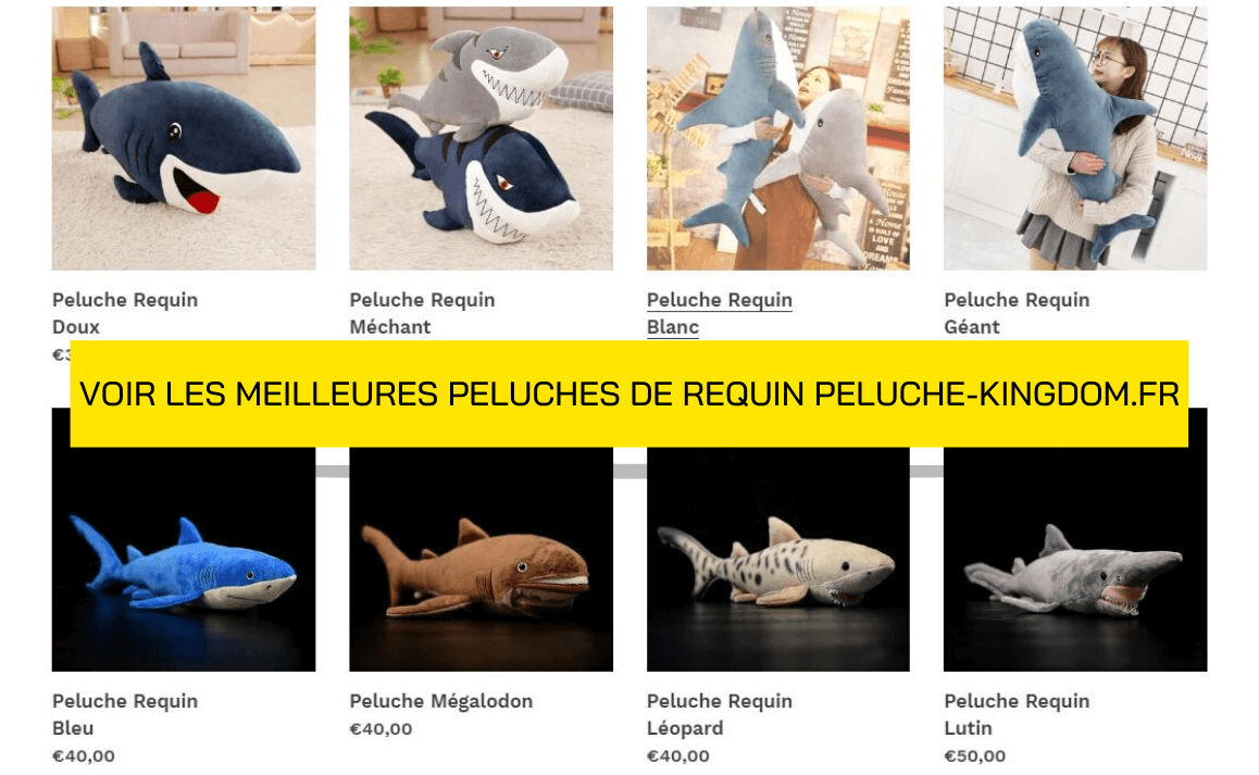 Page de Collection Peluche de Requin