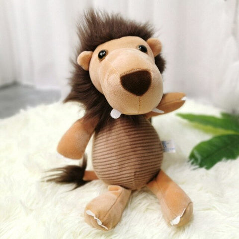 Peluche Lion Vintage Marron