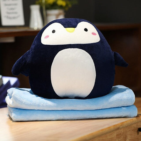 Peluche Pingouin Couverture Chauffe Mains