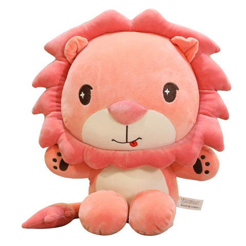 Peluche Lion Rose Assis