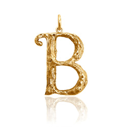 letter, pendant, initial, initial necklace, letter necklace, gold plated