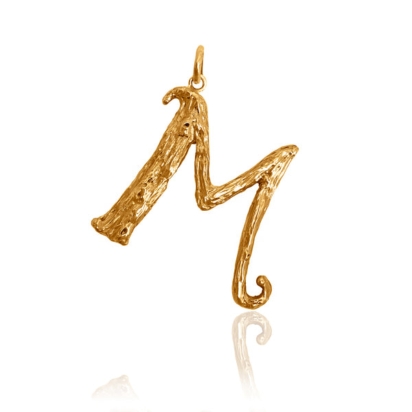 A letter, pendant, initial, initial necklace, letter necklace, gold plated
