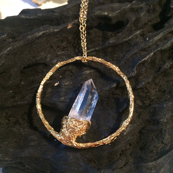 Quartz point pendant