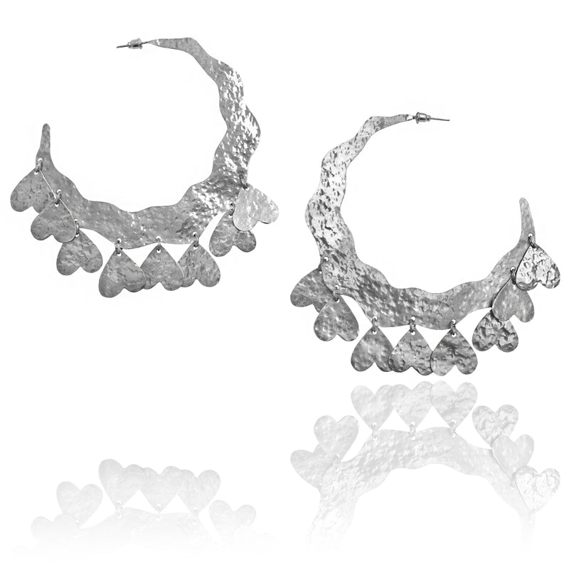 CRAZY LOVE hoop earrings