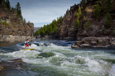 Whitewater Paddling in Alberton Gorge, Montana