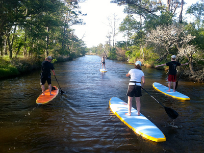 Paddle boarding in North Carolina