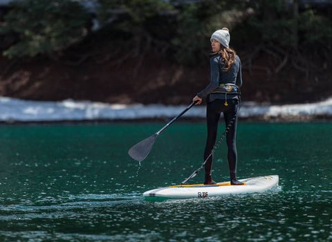 winter paddle boarding