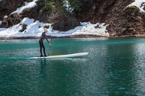 glide winter paddle boarding