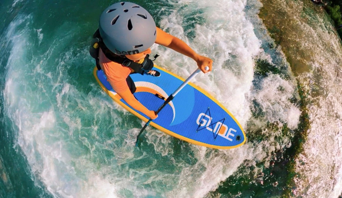 whitewater inflatable paddle board