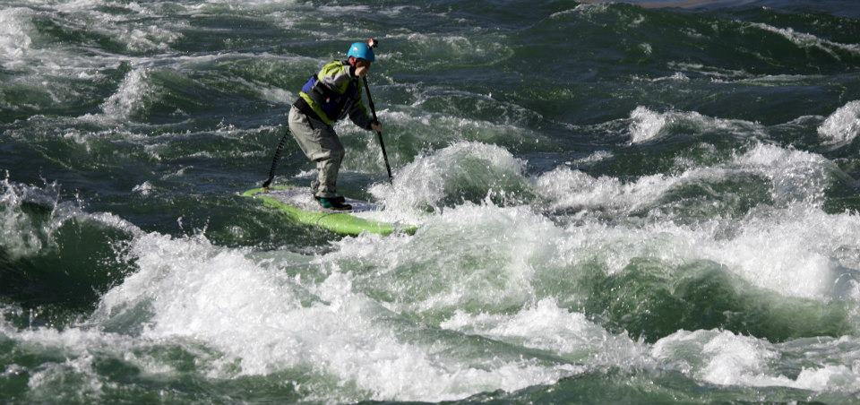 whitewater paddle boarding