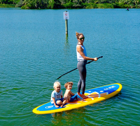 how to SUP with kids