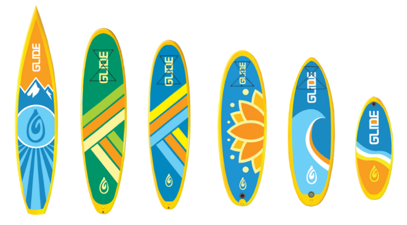 Inflatable paddle board shapes