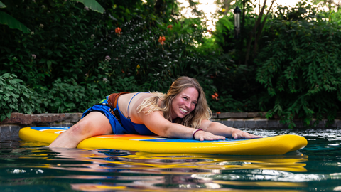 Glide paddle board fitness