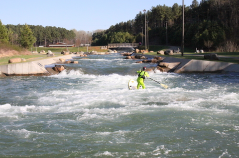 where to whitewater paddle surf in North Carolina