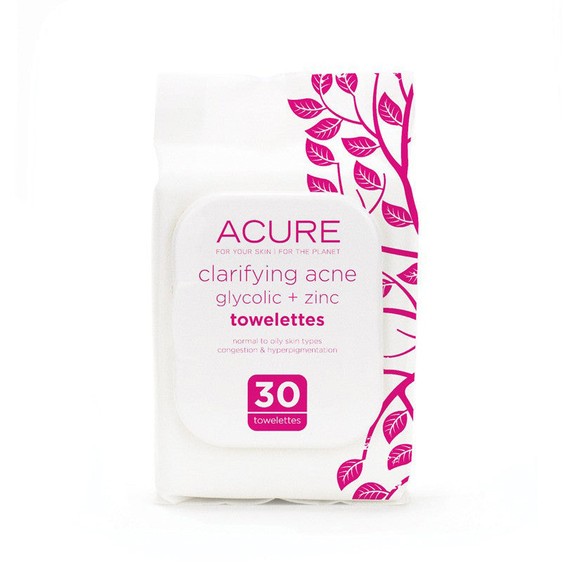 Acure Acne Cleansing Towelettes - Bella Cuore