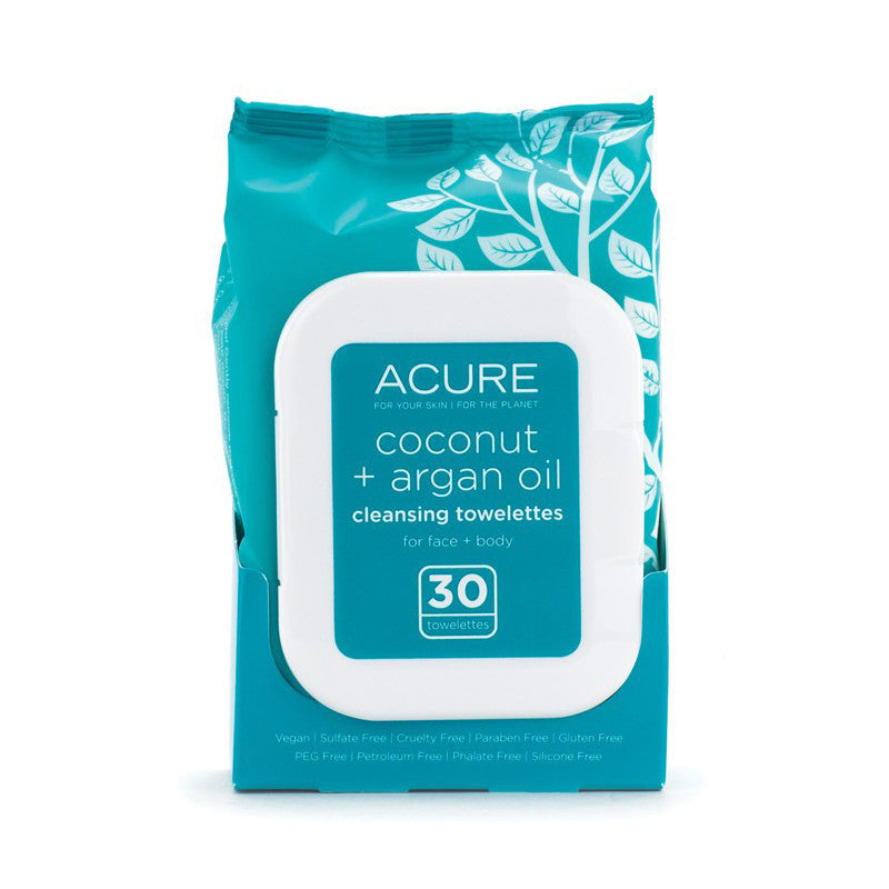 Acure Coconut & Argan Cleansing Towelettes - Bella Cuore