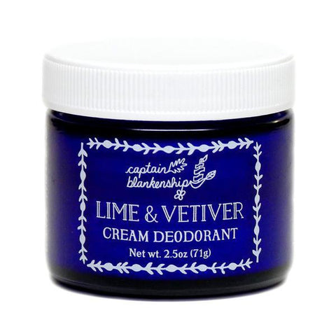 Captain Blankenship Lime and Vetiver Cream Deodorant - Bella Cuore