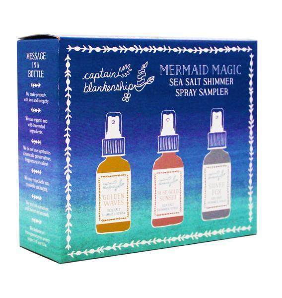 Captain Blankenship Mermaid Magic Sea Salt Shimmer Spray Sampler - Bella Cuore