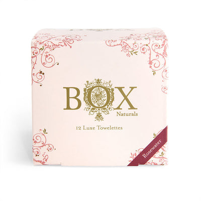 Rosewater / Box of 12 BOX Naturals Luxe Towelettes - Bella Cuore