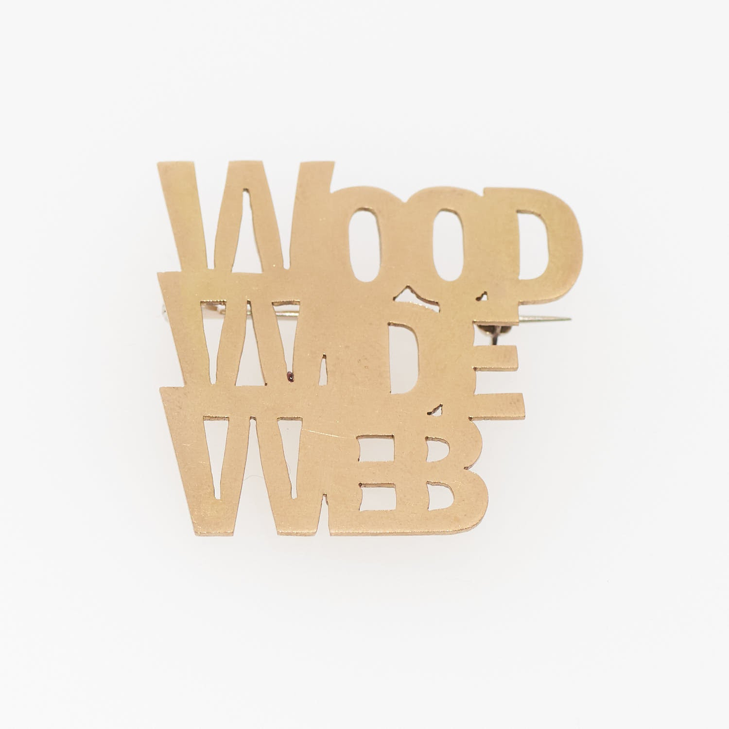 "TYPO ブローチ 真鍮 ""WOOD WIDE WEB"""