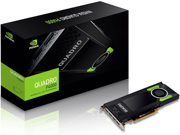 Leadtek nVidia Quadro P4000 PCIe Workstation Card 8GB DDR5 4xDP 1.4 4x5120x2880@60Hz 256-Bit 243GB/s 1792 Cuda Core Single Slot Full Height _M4000 Leadtek nVidia Quadro P4000 PCIe Workstation Card 8G