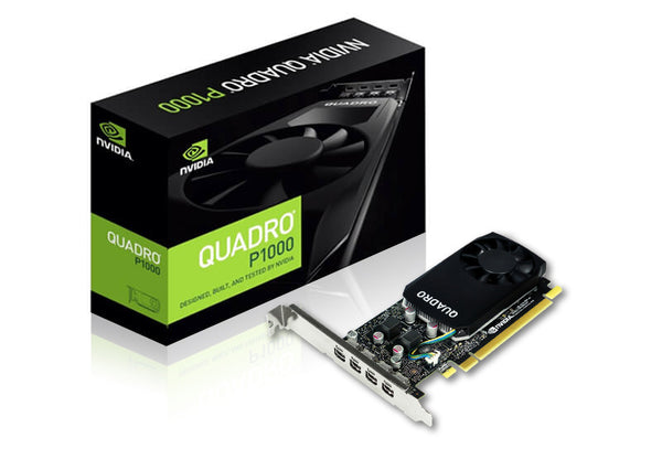 Leadtek nVidia Quadro P1000 PCIe Workstation Card 4GB DDR5 4xmDP 4x5120x2880@60Hz 128-Bit 82GB/s 640 Cuda Core Single Slot Low Profile (126P9000200)