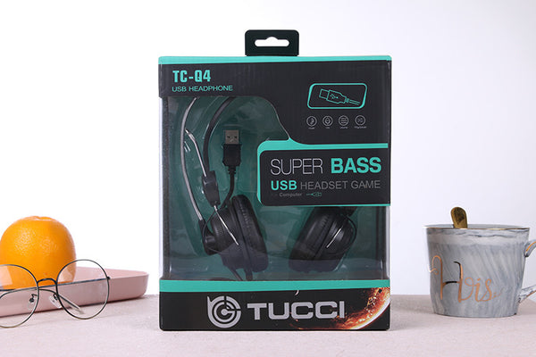 TUCCI TC-Q4 USB Stereo Headset with Mic