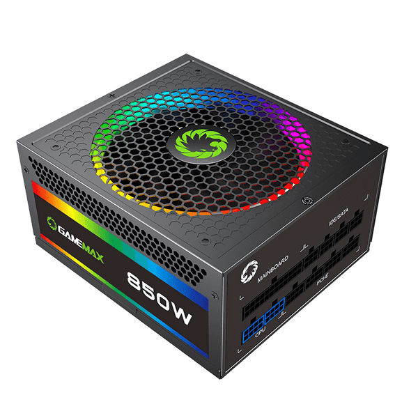 GAMEMAX RGB850-Rainbow 850W Fully Modular 80+ Gold Certified with RGB Light