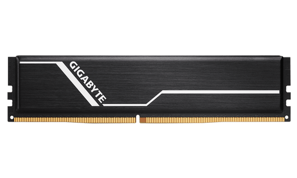 Gigabyte Gaming Memory 8GB (1x8GB) DDR4 2666MHz C16 1.2V 16-16-16-35 XMP 2.0 Dual Channel Kit Aluminum Black Heatsinks PC Desktop RAM