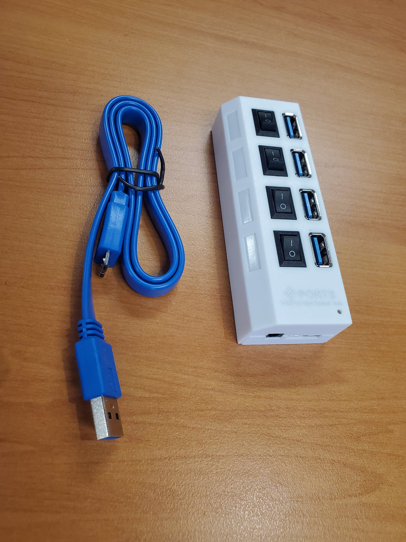 Netplus 4 Port USB 3.0 Hub with Individual Switch
