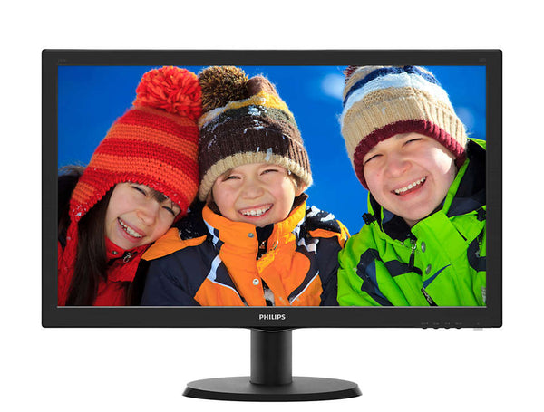 Philips 243V5QHABA 23.6 Widescreen MVA LED w/ Speakers Black 1920x1080 8ms GTG Response, 10,000,000:1 Contrast, VGA + HDMI + DVI - Support VESA MOunt