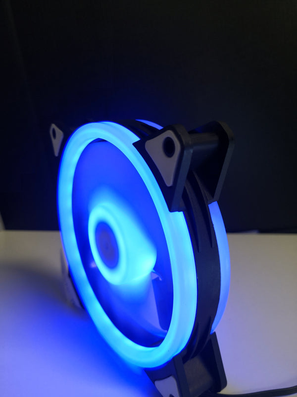 12cm Dual Ring Blue LED Case Fan V2