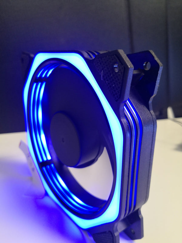 12cm Silent Case Fan with Blue LED